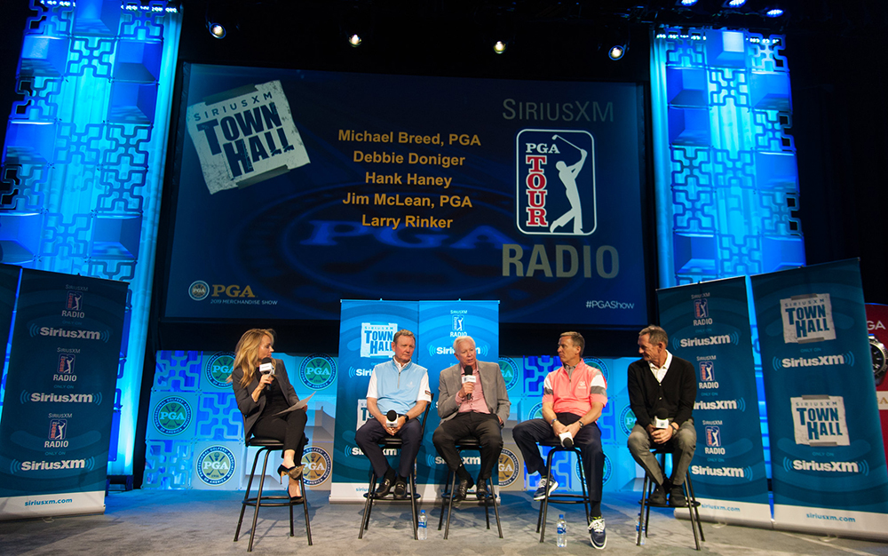 sirius xm town hall panel discussion at 2019 pga merchandise show