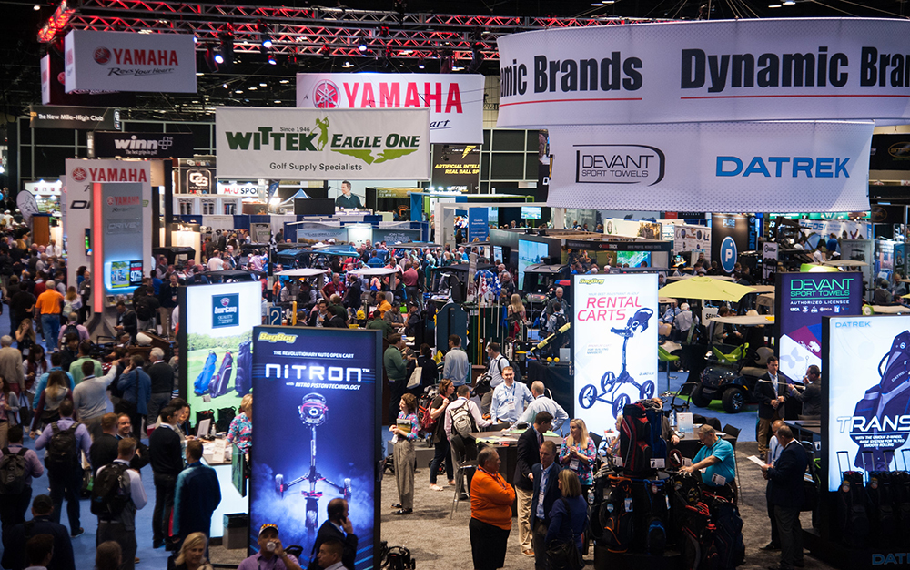 tradeshow floor of 2019 pga merchandise show